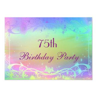 Stunning Swirls & Pastel Shades 75th Birthday Card