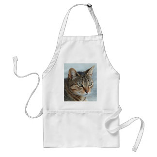 Stunning Tabby Cat Close Up Portrait Adult Apron
