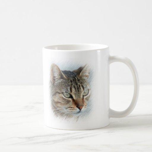 Stunning Tabby Cat Close Up Portrait Classic White Coffee Mug
