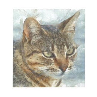 Stunning Tabby Cat Close Up Portrait Notepad
