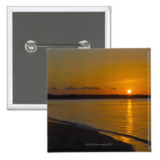 Stunning Tropical Sunset 2 Inch Square Button