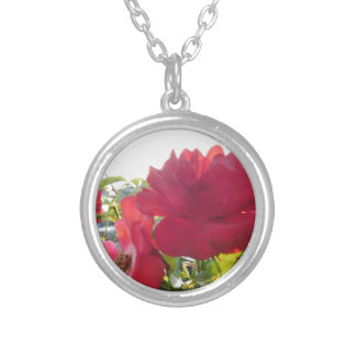 Stunning Unique Eye Catching Design Silver Plated Necklace