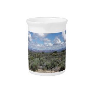 Stunning Utah desert and sky Drink Pitcher