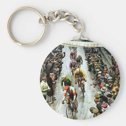 Stunning Vintage Cylcing Gift Keychain