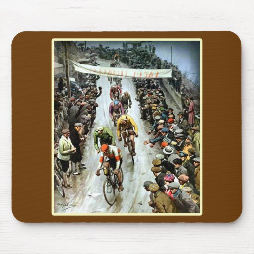 Stunning Vintage Cylcing Gift Mouse Pad