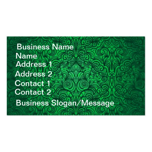 Stunning Vintage Green Floral Business Card