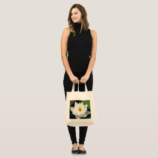 Stunning Waterlily With Gold Centre Large Tote Bag