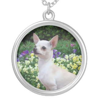 Stunning White Chihuahua Necklace