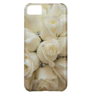 Stunning White Rose Wedding Bouquet Case For iPhone 5C