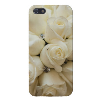 Stunning White Rose Wedding Bouquet Case For iPhone SE/5/5s