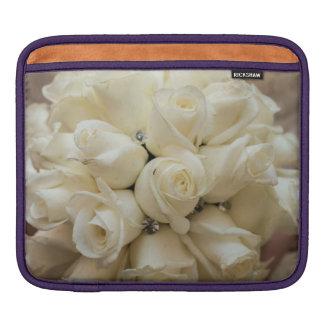 Stunning White Rose Wedding Bouquet iPad Sleeves