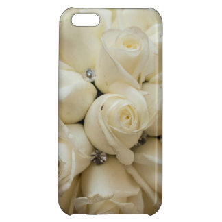 Stunning White Rose Wedding Bouquet iPhone 5C Cover