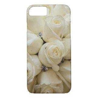 Stunning White Rose Wedding Bouquet iPhone 8/7 Case
