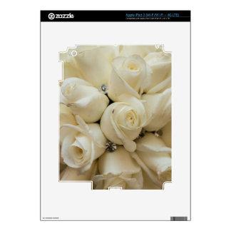 Stunning White Rose Wedding Bouquet Skin For iPad 3