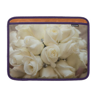 Stunning White Rose Wedding Bouquet Sleeves For MacBook Air