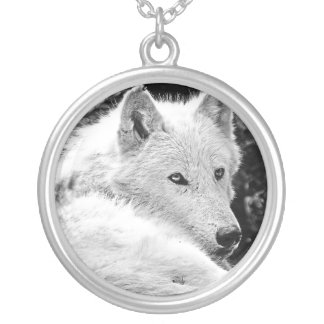 Stunning White Wolf Personalized Necklace
