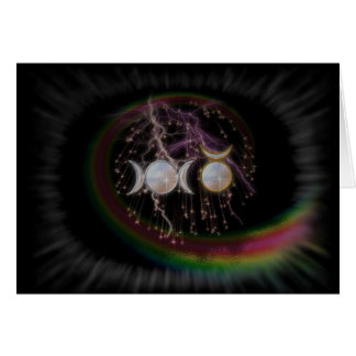 Stunning Wiccan Triple Goddess Cosmic Card