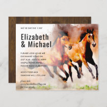 Stunning Wild Horses Budget Wedding Invite