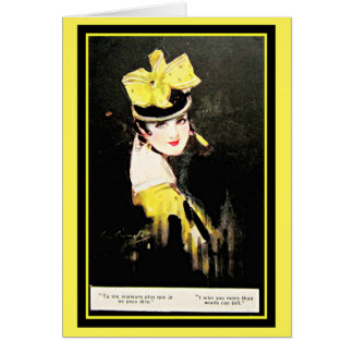 Stunning William Barribal Woman in Yellow Hat Card