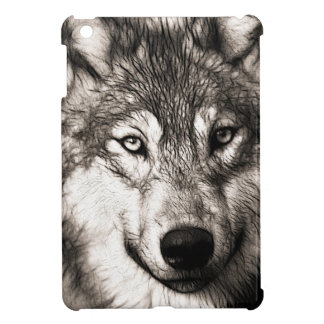 Stunning wolf face photo print accessories therian iPad mini cases