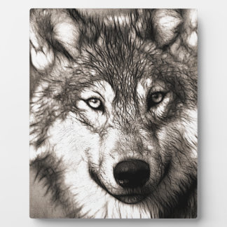 Stunning wolf face photo print accessories therian photo plaques