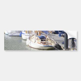 Stunning Yacht Ayesha Car Bumper Sticker
