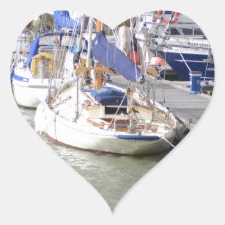 Stunning Yacht Ayesha Heart Sticker