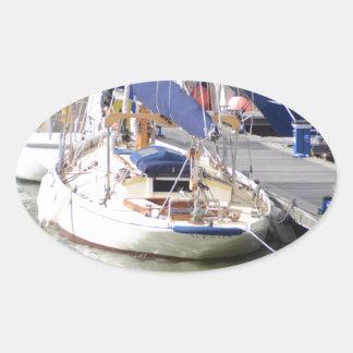 Stunning Yacht Ayesha Oval Sticker