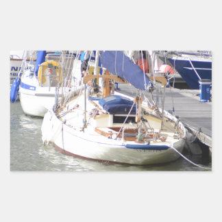 Stunning Yacht Ayesha Rectangular Sticker