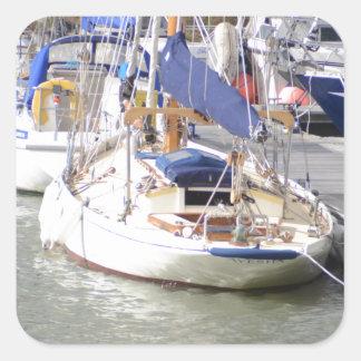 Stunning Yacht Ayesha Square Sticker