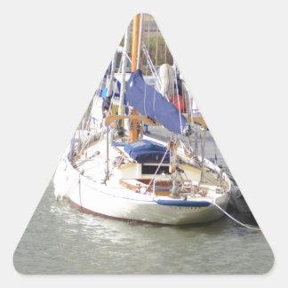 Stunning Yacht Ayesha Triangle Sticker
