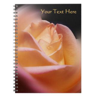Stunning Yellow Rosebud Flower Notebook