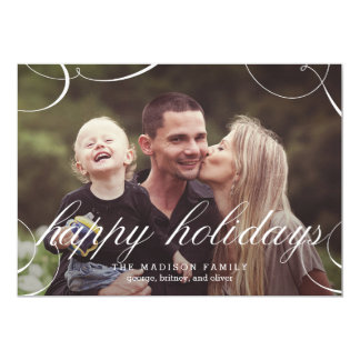 """Stunningly Scripted Holiday Photo Card 5"""" X 7"""" Invitation Card"""