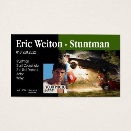 Stunt Actor Stunt Coordinator, Film, TV Business Card Templates