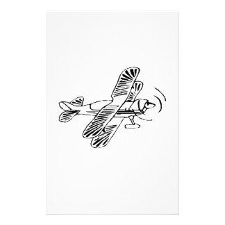 Stunt Biplane Custom Stationery