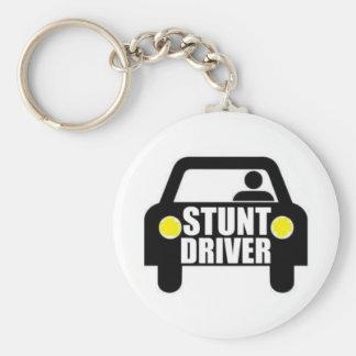 Stunt Driver Keychain
