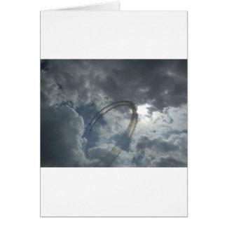 Stunt Flying Demonstration Card