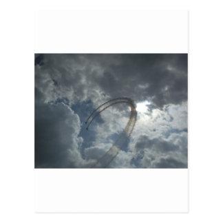 Stunt Flying Demonstration Postcard