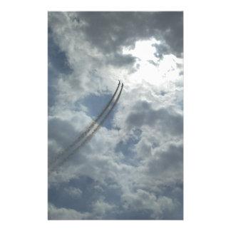 Stunt Flying Demonstration Custom Stationery