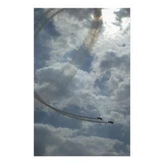 Stunt Flying Display Custom Stationery