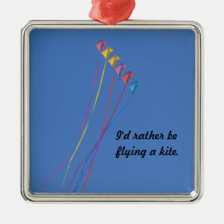 Stunt Kite Flying in the Sky Metal Ornament