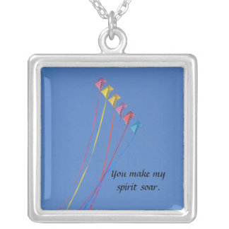 Stunt Kite Flying in the Sky Necklace