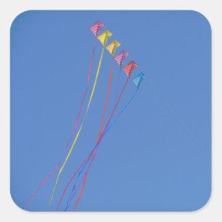 Stunt Kite Flying in the Sky Square Sticker