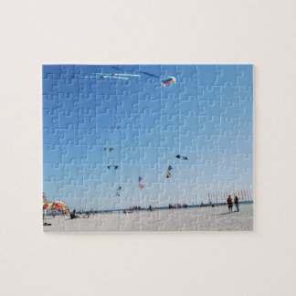 Stunt Kites in Formation Jigsaw Puzzle