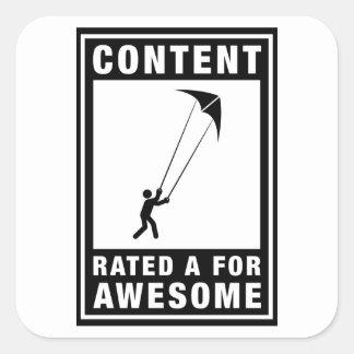 Stunt Kiting Square Sticker