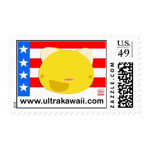 Stunt Kitty Postage Stamp