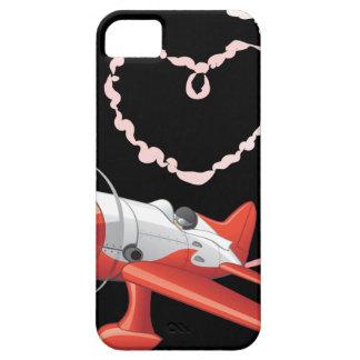 Stunt Pilot In Airplane Custom Background Color iPhone SE/5/5s Case