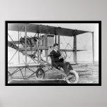 Stunt Pilot Lincoln Beachey 1912 Poster