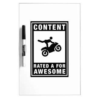 Stunt Rider Dry-Erase Whiteboards