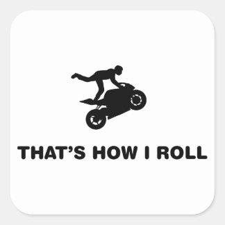 Stunt Rider Square Sticker
